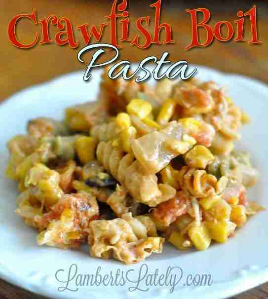 Crawfish Boil Pasta - great way to use up leftovers from a crawfish boil!