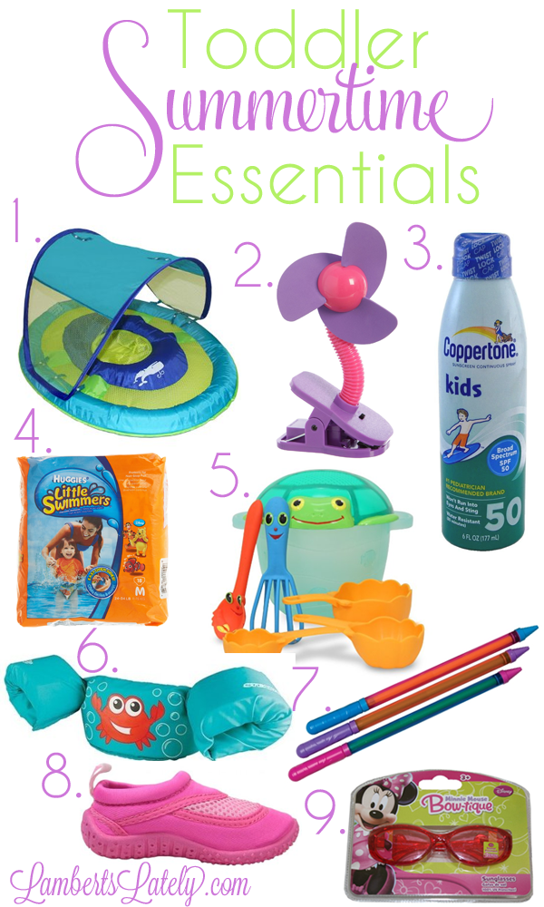 Great list of toddler products for summer!