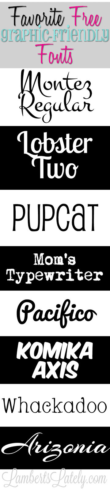 Lots of great graphic-friendly, free, commercial fonts!