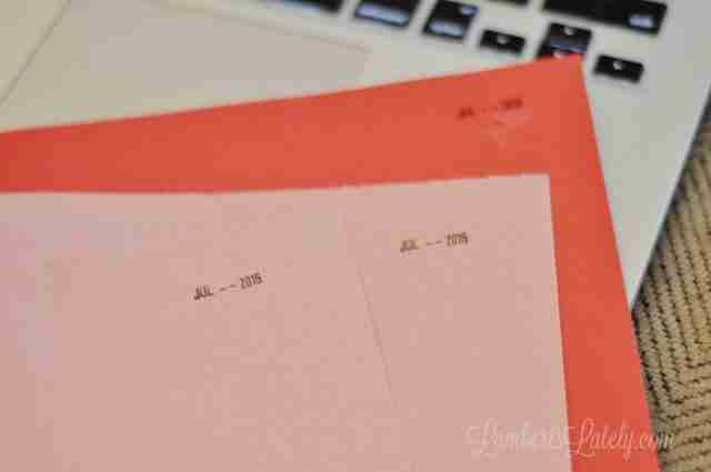 This post shows how to organize school papers by year - keep those memories without having to keep all of the paper! Remember your kids time as a student without keeping a ton of stuff.
