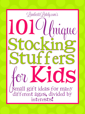 This list of over 100 creative and educational stocking stuffer ideas for kids is great! Ideas range from baby to tween and there are ideas for boys and girls. Little ones will love these useful toys!
