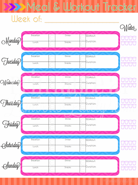 Workout Meal Planner Tracker Printable || Water Intake Monitor || Ultimate Planning Notebook