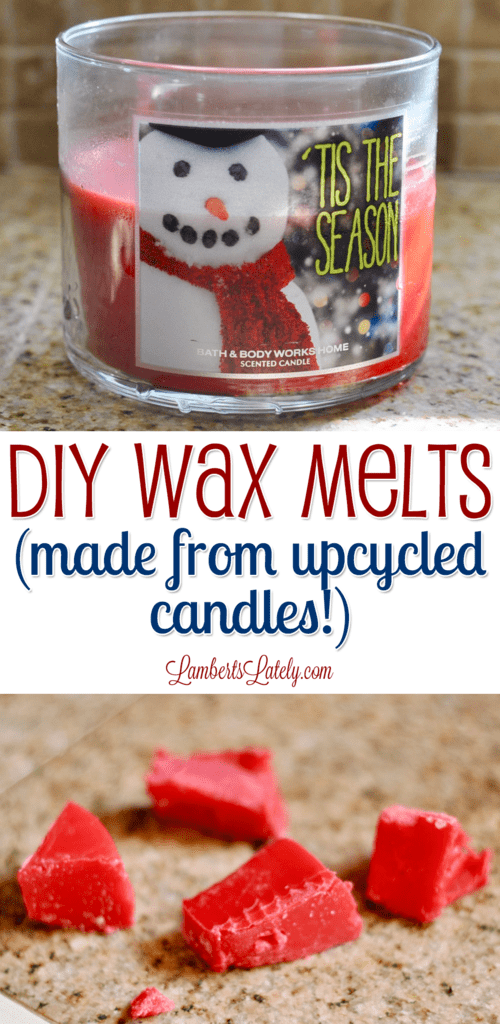 See how to DIY wax melts made from up-cycled/old candles. Make homemade scented wax cubes with candles you already have!