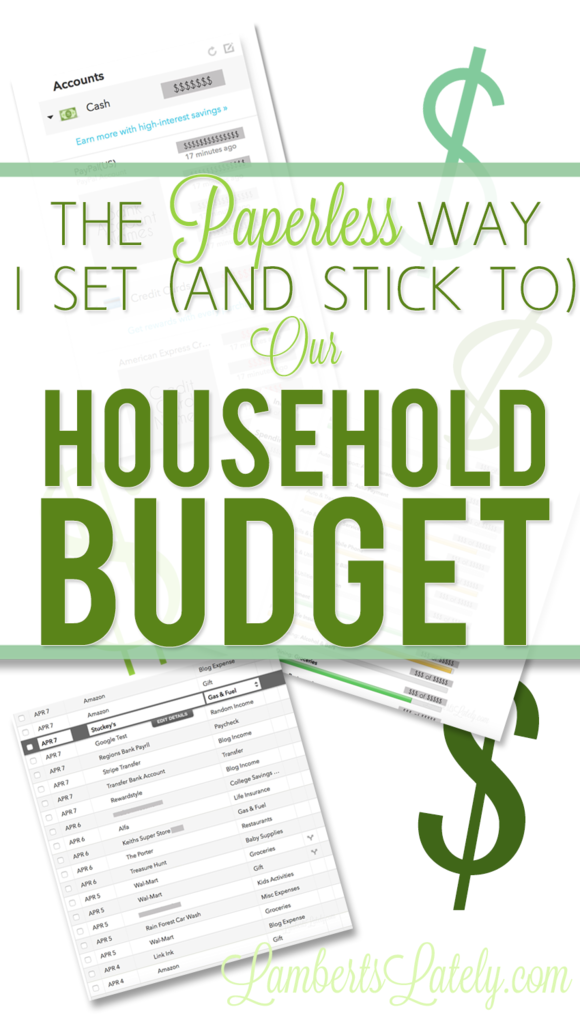 Grab budgeting tips and learn how to make a budget for beginners - this Paperless Budget System uses a  Household Budget Template and features Online Budget Organization. Great paperless ideas!