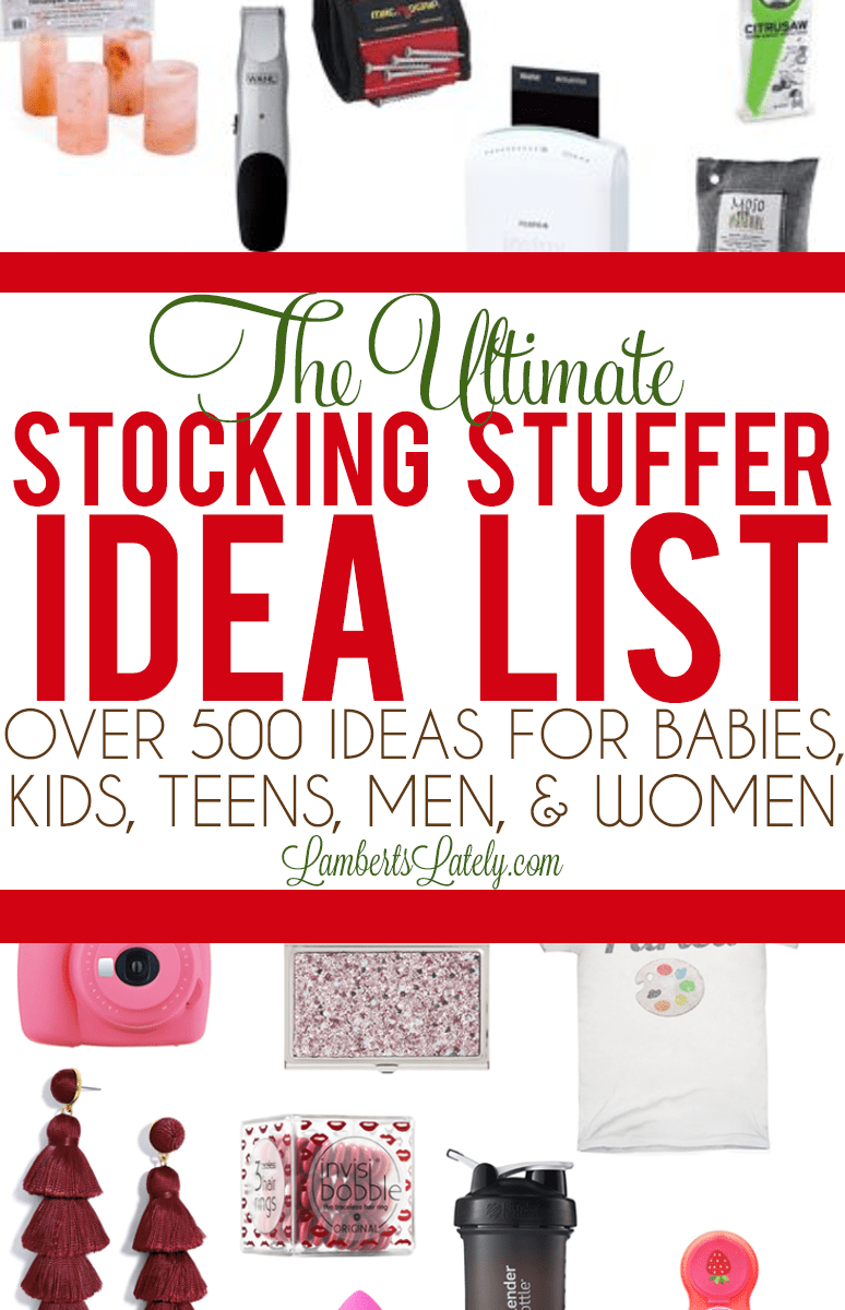 Stocking Stuffer Ideas for men, women, kids, toddlers, and babies...over 500 creative small gift ideas for Christmas! #stockingstuffers #stockingstufferideas #giftideas #smallgiftideas