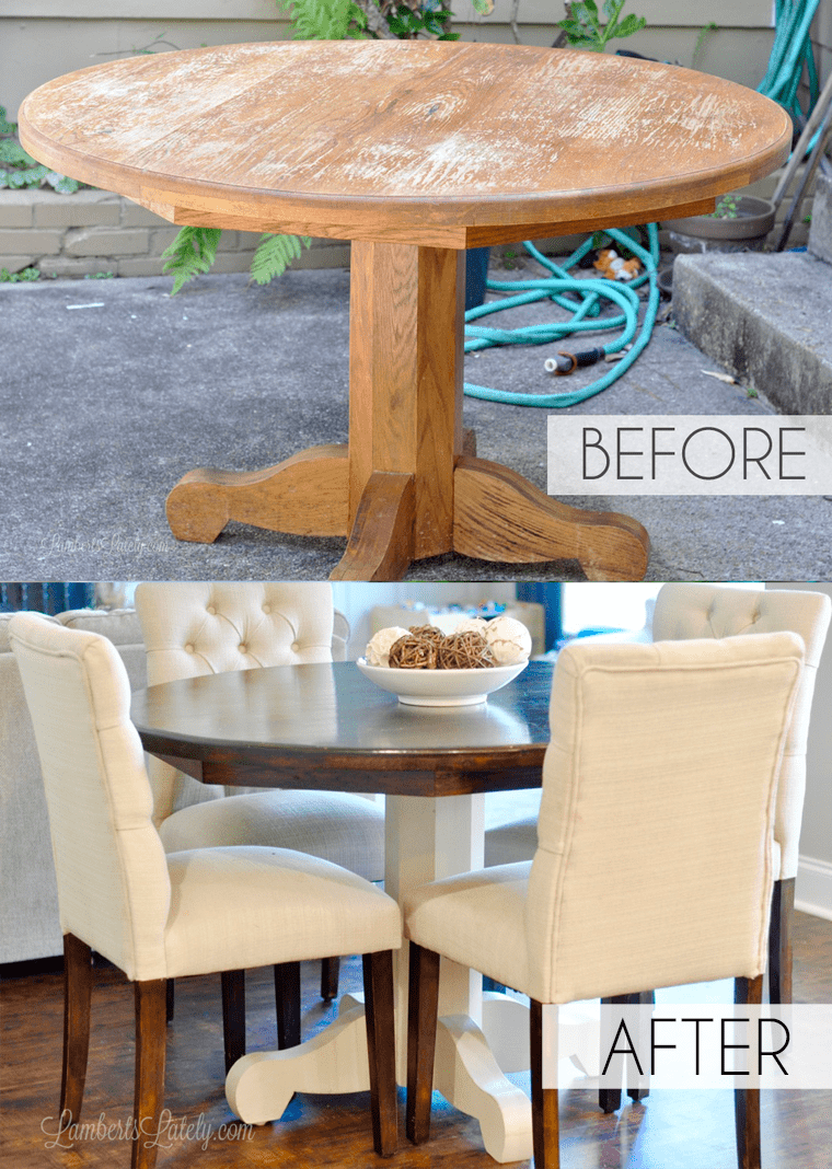 How To Refinish A Farmhouse Table When You Have Absolutely No Idea What You Re Doing Lamberts Lately