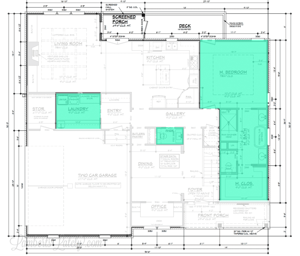Our forever home bed bath laundry choices lamberts lately for Custom home floor plans az