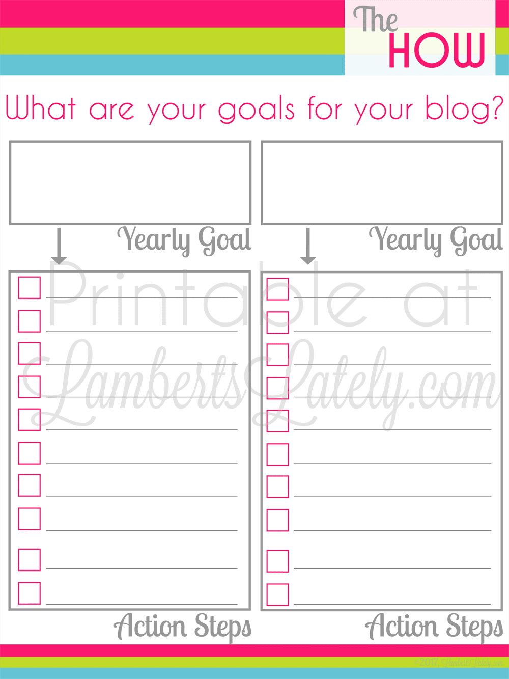 This is a great set of free blogging printables for new bloggers! This planner helps you find a focus, demographic, and goals for your blog before you start. Great set for organizing your 2017 blog!