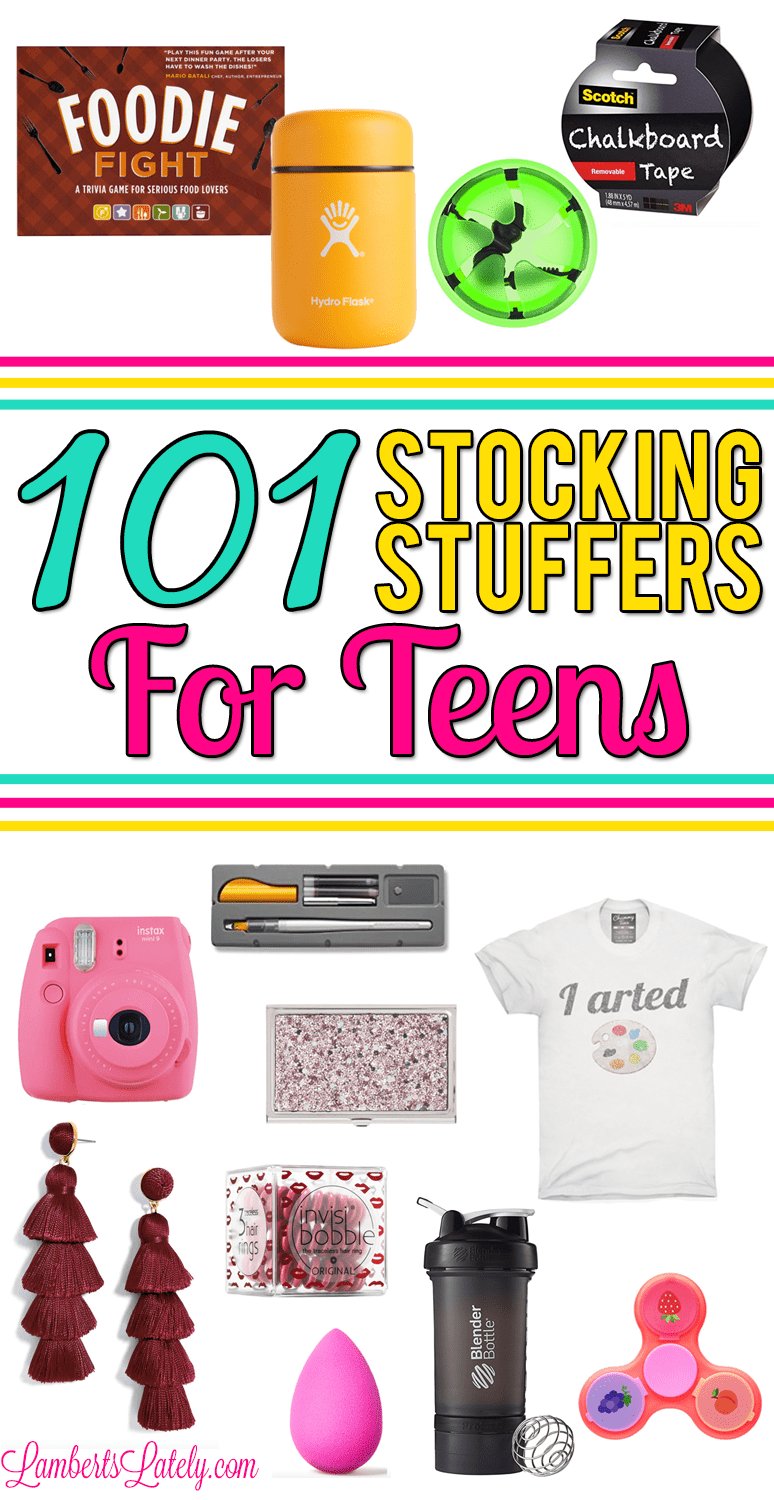 Love this set of stocking stuffers for teens / tweens - has things for both boy and girl teenagers! Includes small gift ideas, sorted by interest. Funny, cheap, and unique ideas that are great Christmas gifts for teen family and friends.