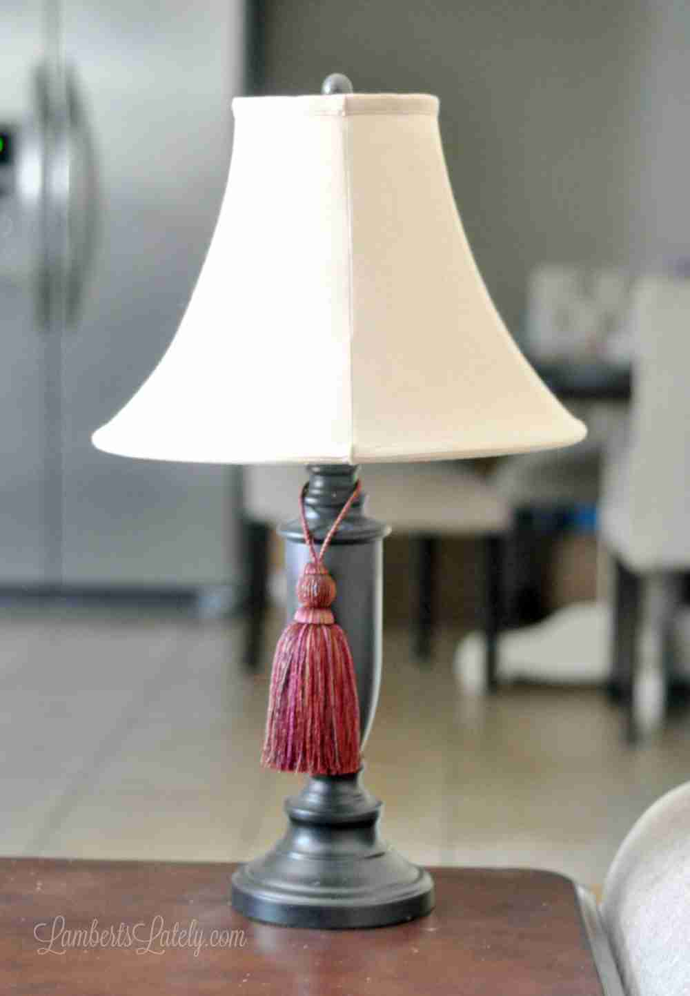 Drab To Fab A Diy Glass Finish Lamp Base Makeover Lamberts Lately
