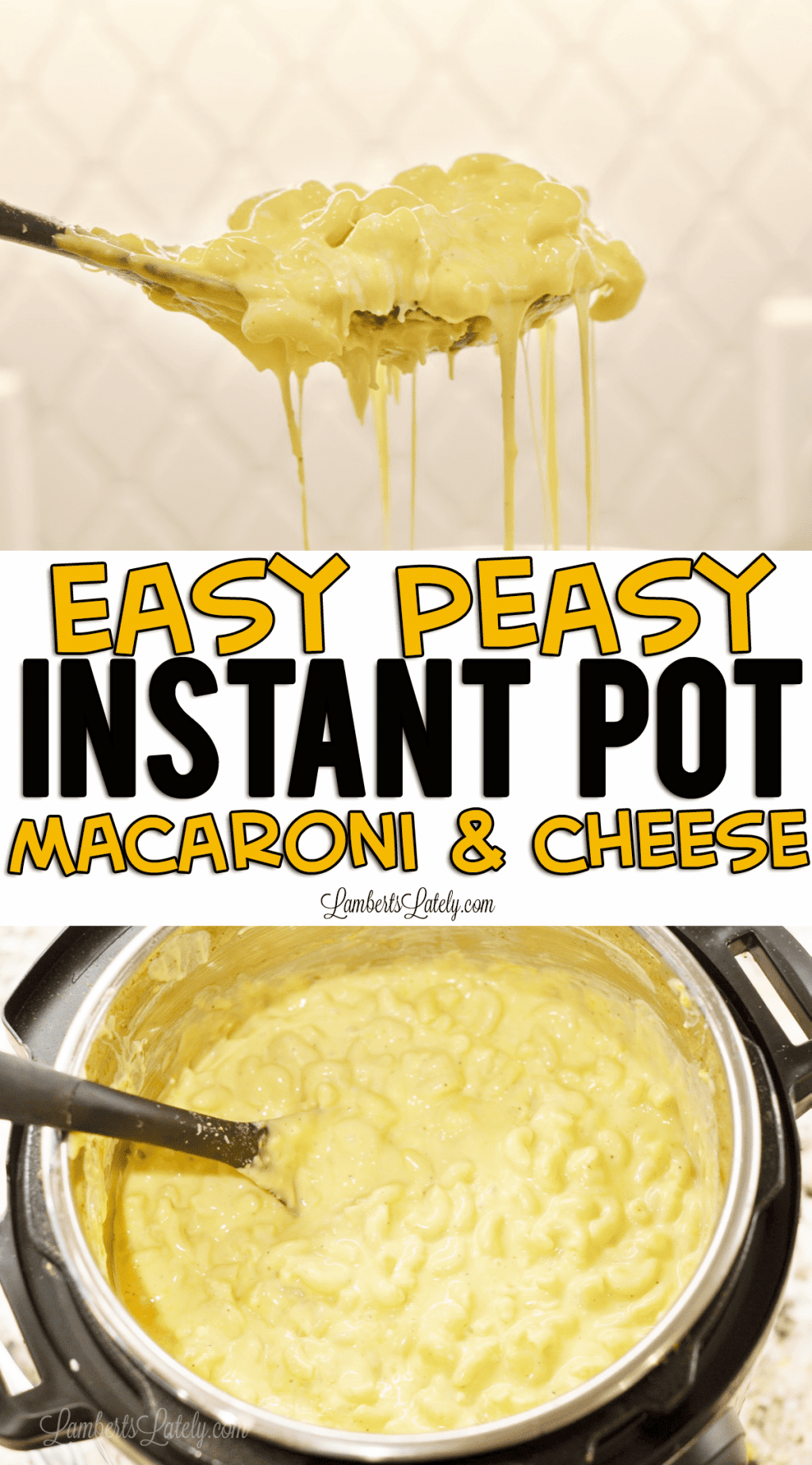This is such a great recipe for easy Instant Pot Macaroni and Cheese! It uses evaporated milk, soup, and cheddar/colby jack cheeses to make the dish super creamy. This is one definitely kid-approved pressure cooker recipe!