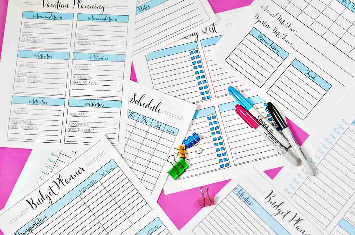 Organize In Style Vacation Planning Printables  Lamberts