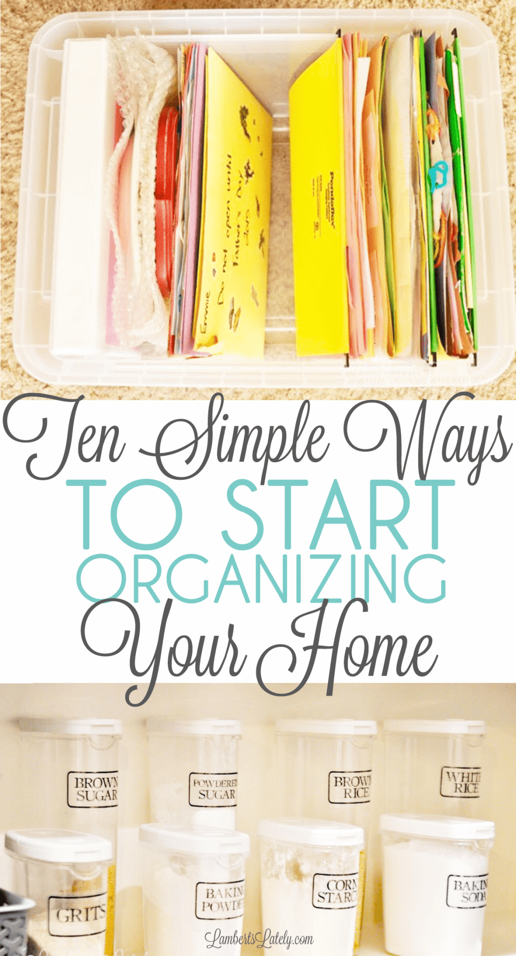 Ready to start organizing your home, but don't know how to start? Grab a few ideas for starting your house organization process to clean and declutter your space for good!