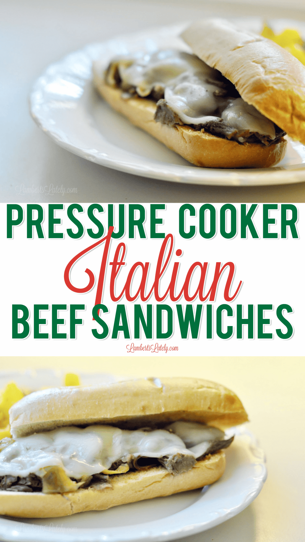 This recipe for Pressure Cooker Italian Beef Sandwiches is perfect for a weeknight - can be prepped easily in an Instant Pot is kid-approved!