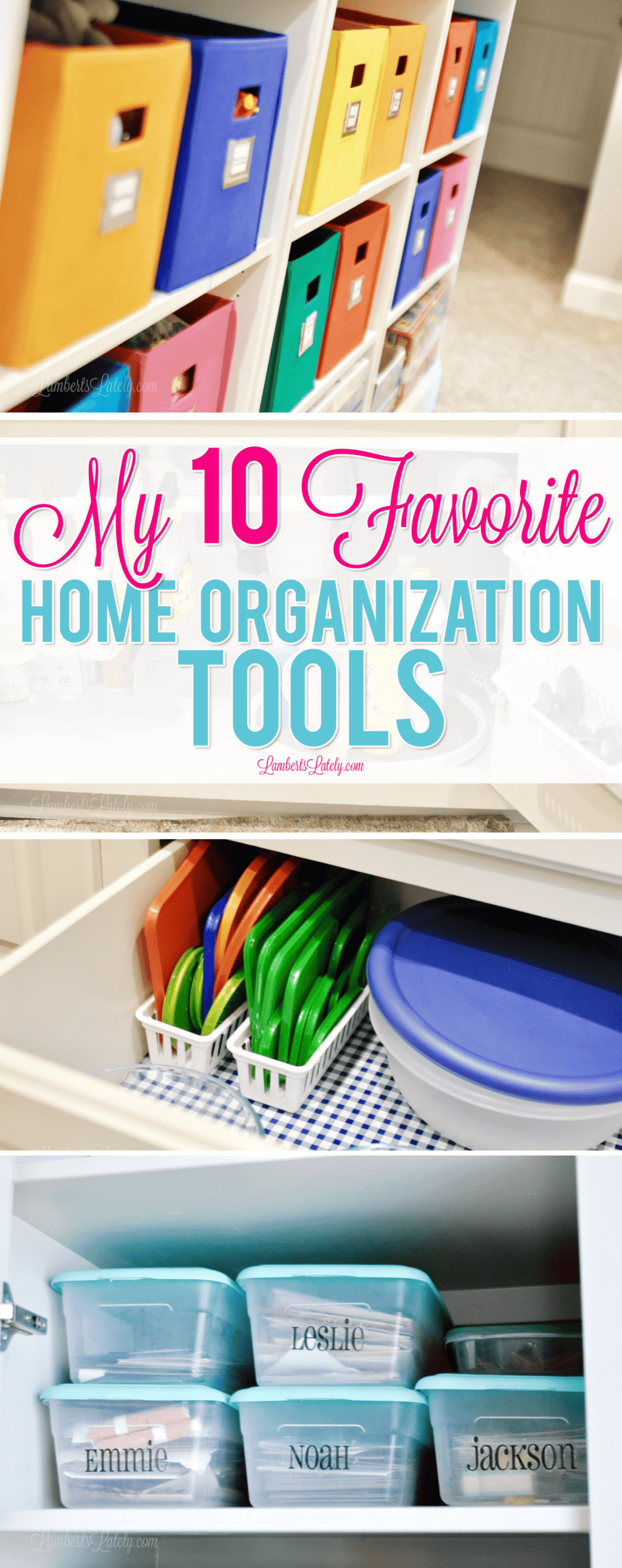 Find great storage solutions for any size home in this round-up of organization products - find inspiration for how to organize small spaces with inexpensive products!