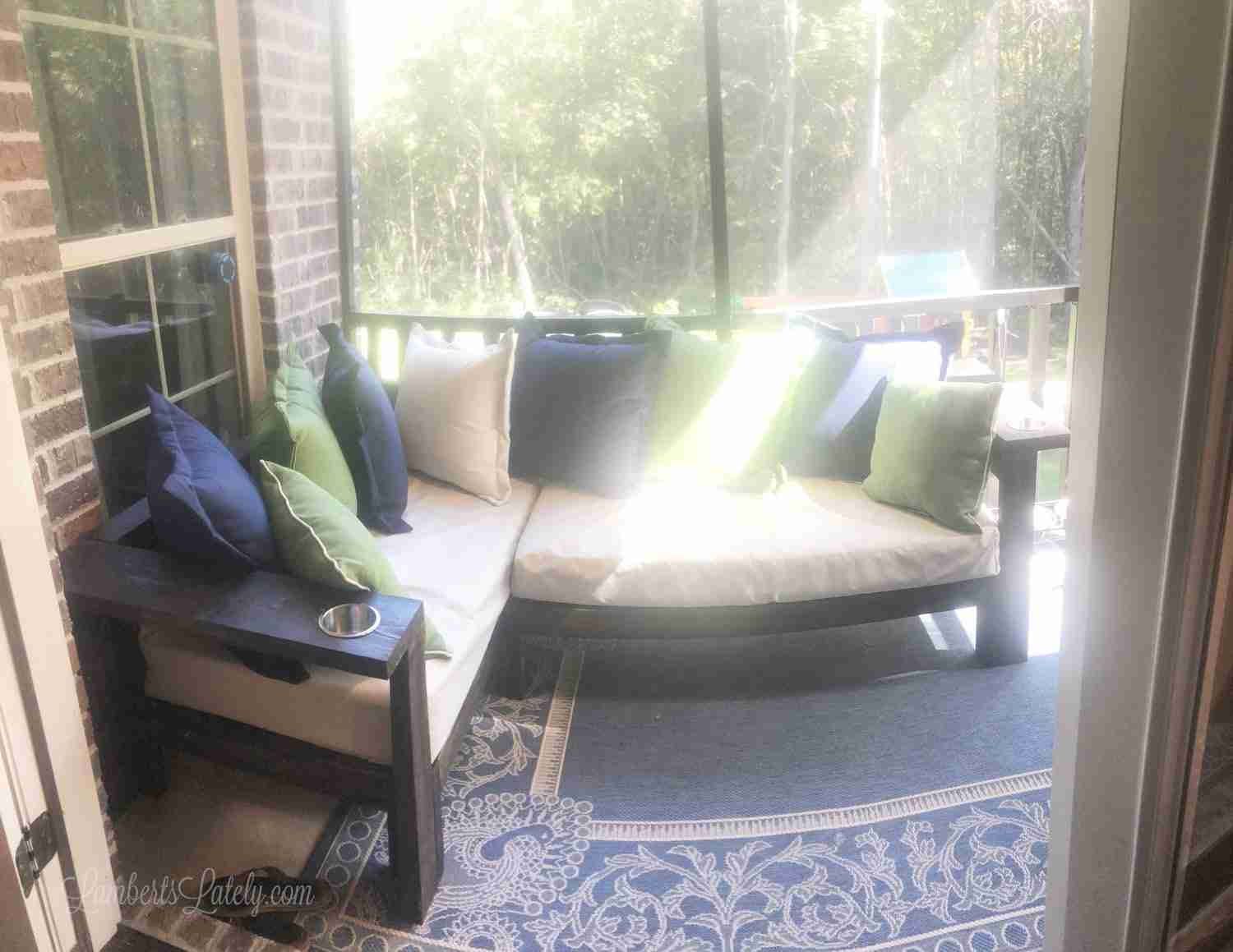 A Diy 2x4 Outdoor Sectional With Crib Mattress Cushions Lamberts Lately