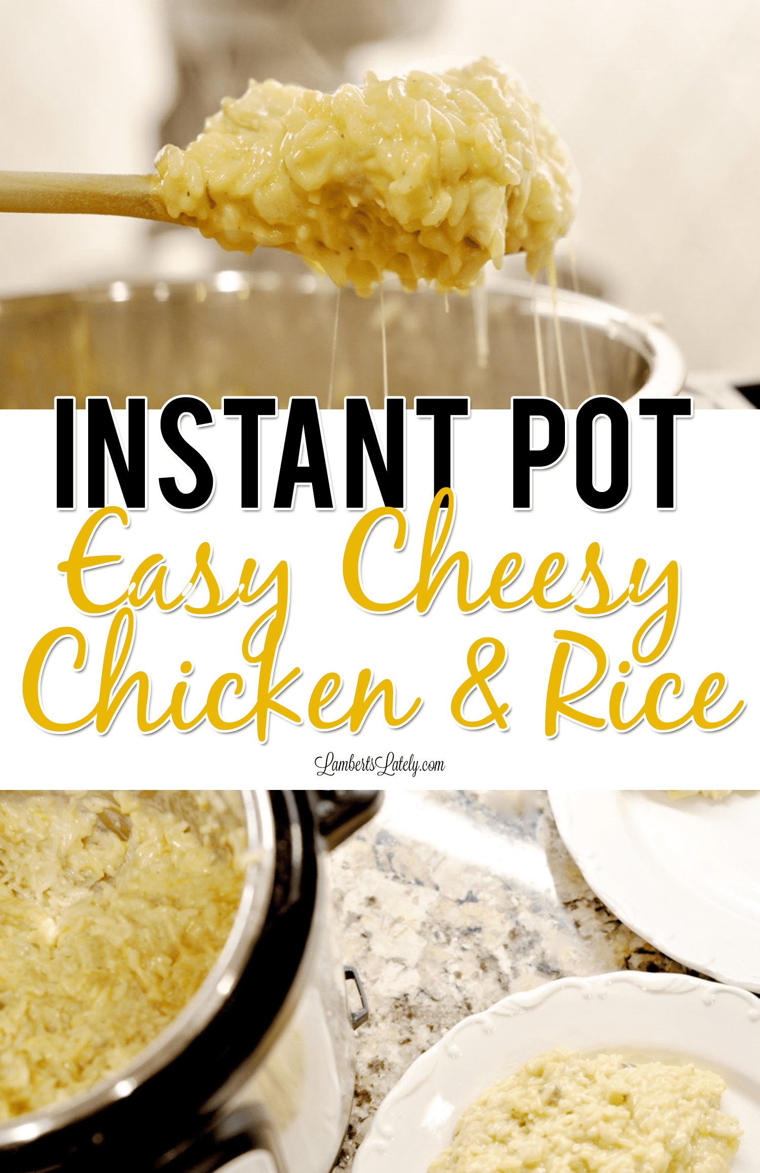 This Instant Pot Cheesy Chicken & Rice uses ingredients like cream soup and cheese to make a simple, crowd-pleasing weeknight dinner that even kids love! This recipe can be prepped in an electric pressure cooker in just minutes.
