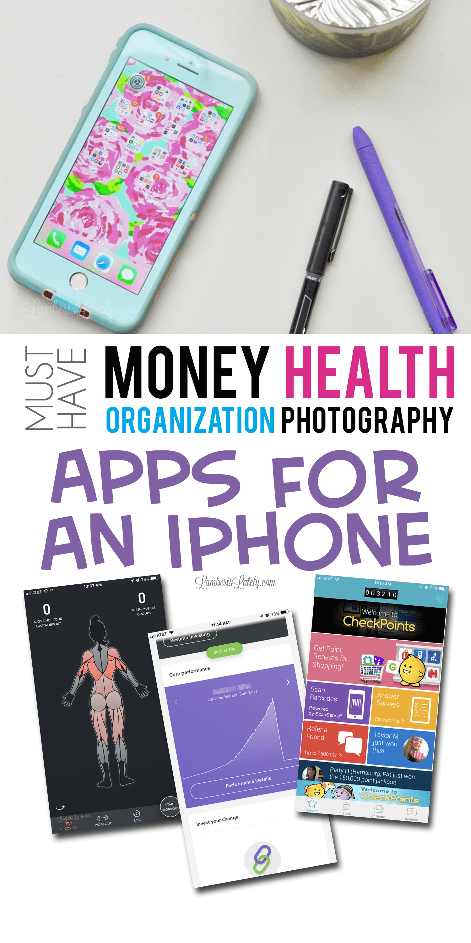 These are the must-have iPhone apps for organization, productivity, money management, health, and photography.  There are even apps that pay you! Find ideas and inspiration for how to organize your life with your smartphone.