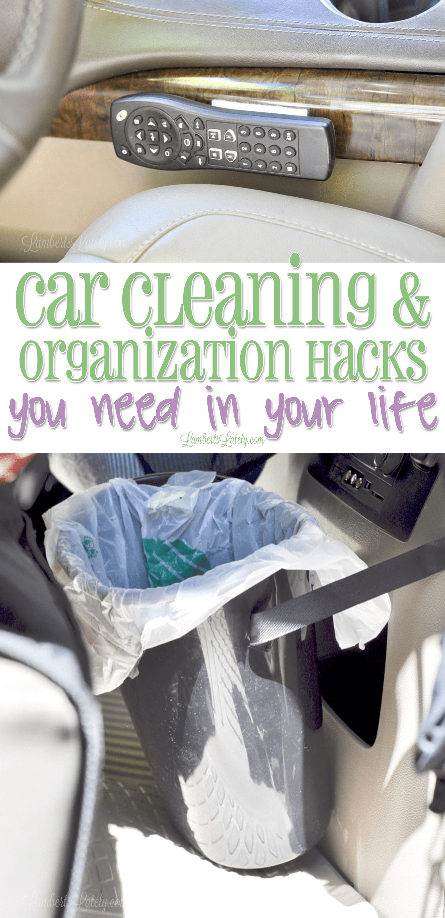 Grab a few new ideas for car cleaning and organization. These are great for using if you have kids...includes products that can be used from the Dollar Store!