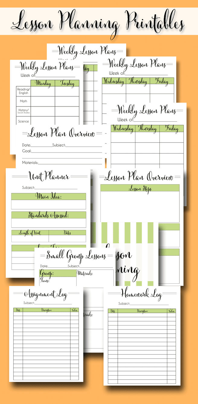 The Ultimate Teacher Planner is a set of free 2020-2021 teacher planner printables that has over 30 pages of calendars, lesson planning pages, binder covers, schedule planning (for elementary and high school), and more!