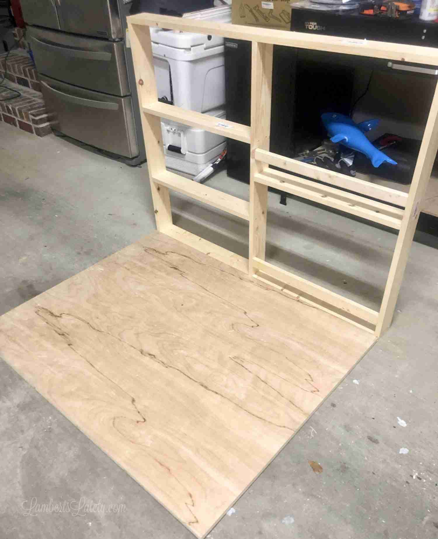 How To Build A Diy Murphy Bed With Desk And Bookcases Part 2 Lamberts Lately