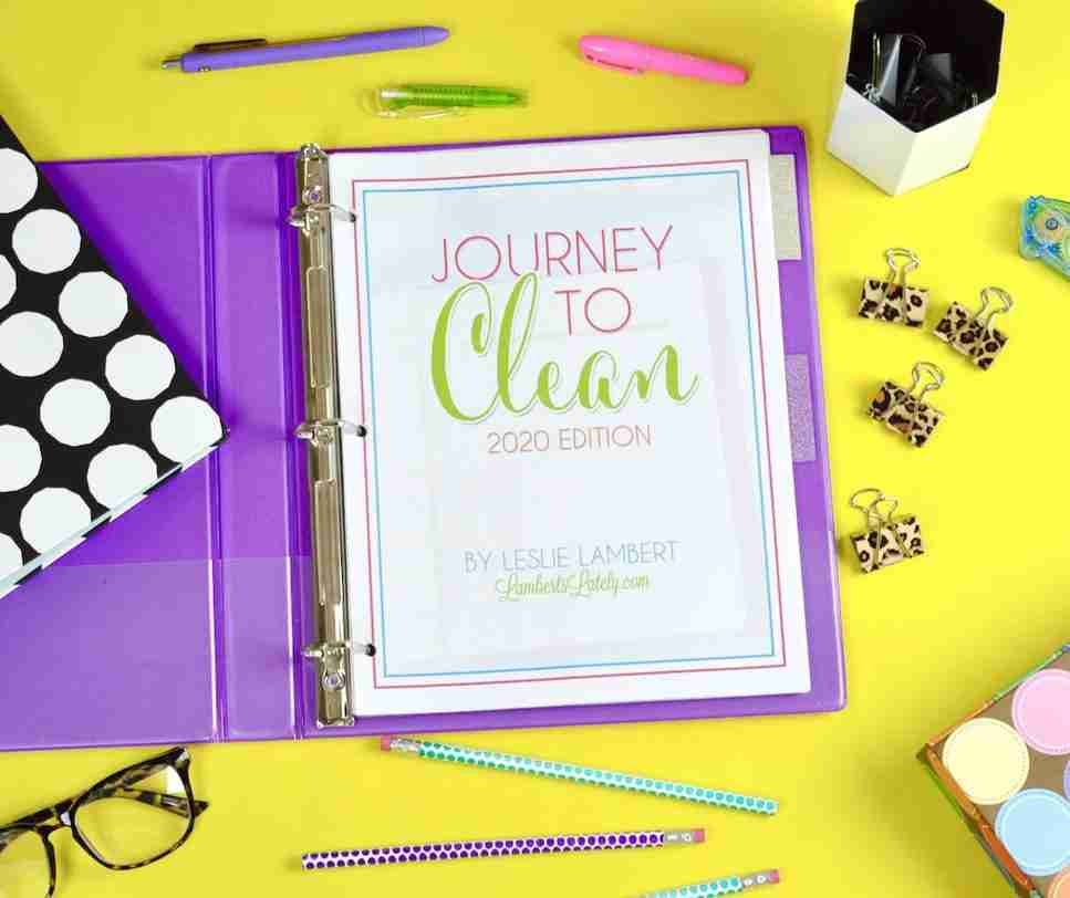 Journey to Clean, a cleaning schedule system, is celebrating its fifth edition in 2020! Come see how to organize yearly, monthly, and weekly cleaning tasks by room. There's even a deep cleaning section and a set of family cleaning notebook printables.