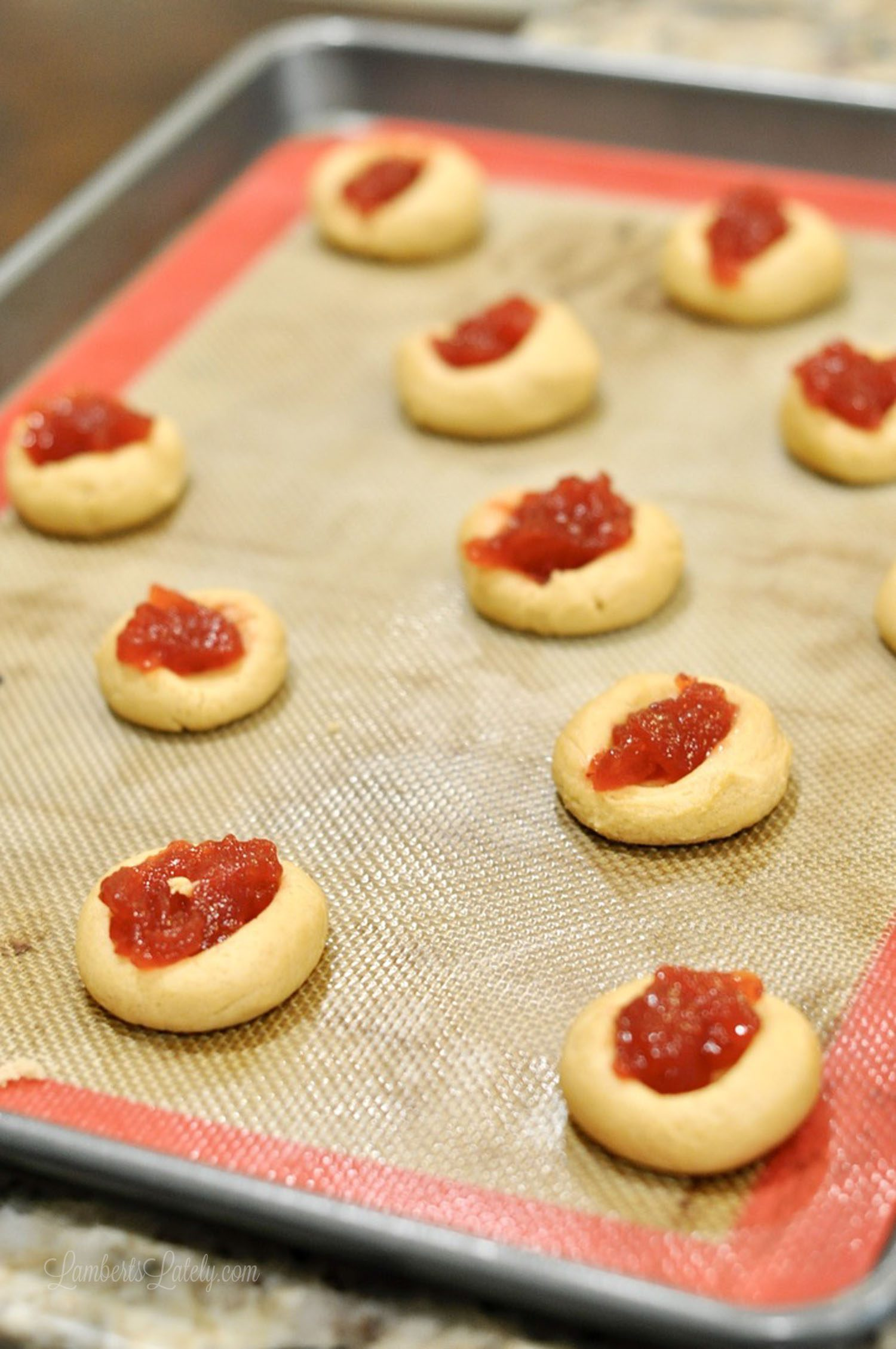 Check out this recipe for peanut butter & jelly thumbprint cookies. Such a fun, easy homemade dessert that's perfect for Christmas - super soft and chewy!