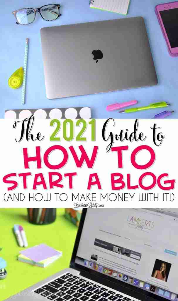 This guide on how to start a blog from scratch in 2021 (and make money from it) is great for beginners! You'll get step by step instructions on picking hosting, installing WordPress, and finding plugins to help you with SEO optimization and social media.Great ideas for lifestyle, mom, or travel blogs - start in as little as 15 minutes!