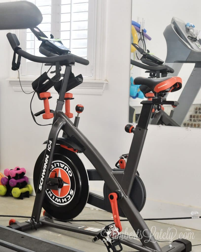 This post shows how to use a Schwinn IC4 Spin Bike to get a Peloton workout. Includes supplies needed, how to get cadence and resistance measurements, and what apps are needed.