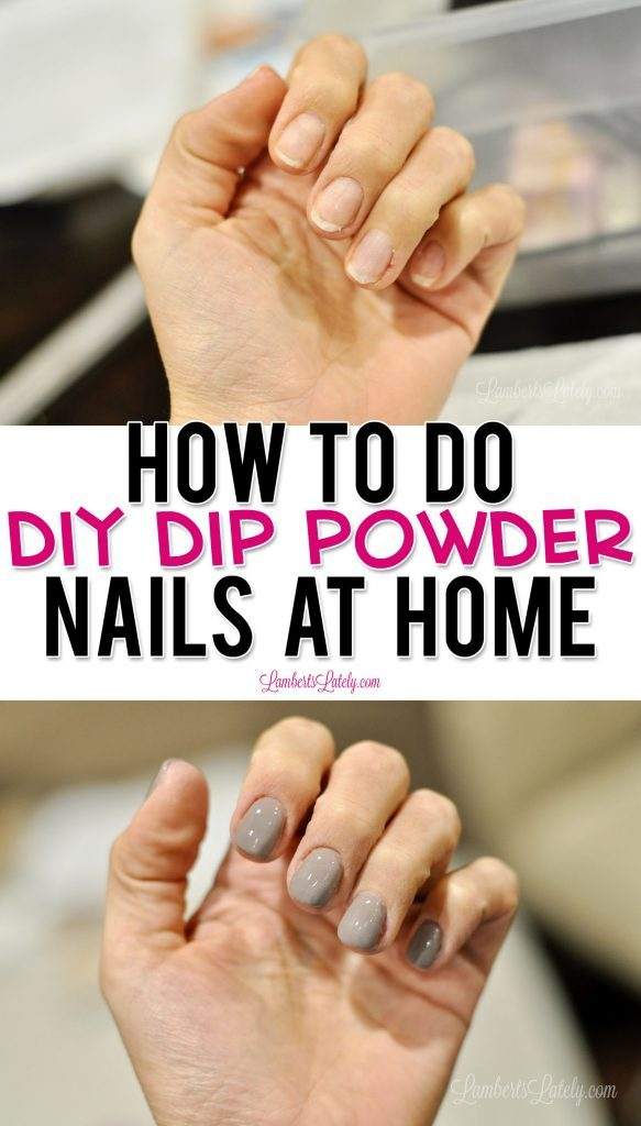 Give DIY Dip Powder Nails a try - they're so easy to do at home! This post shows how to add tips, apply Revel Nail's Shady powder, and even how to remove dip nails when you're done.