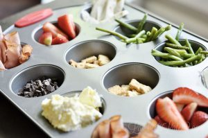 This list of over 100 muffin tin lunches for kids has creative ideas for a balanced at-home lunch. Great ways to expose kids to different foods - all from a muffin pan serving tray!
