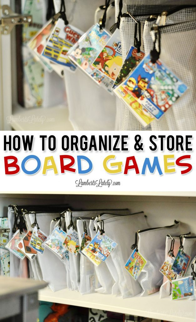 This post shows how to organize board games in bags for a simplified and streamlined storage solution. Creative ways of labeling games make this method even easier to maintain! Includes tips for organizing puzzles too.